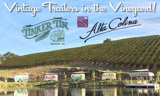 Trailers in the Vineyard